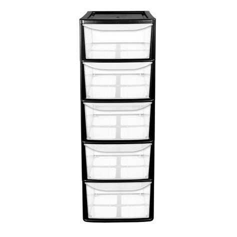 5 Drawer Plastic Storage Tower by 5 Drawer Tower Volcanic Ash Buy At Qd Stores