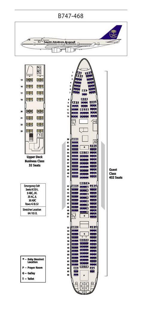 747 400 seat map saudi arabian airlines boeing 747 400 aircraft seating