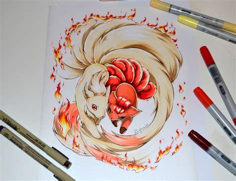 vulpix and ninetales tattoo by lighane on deviantart