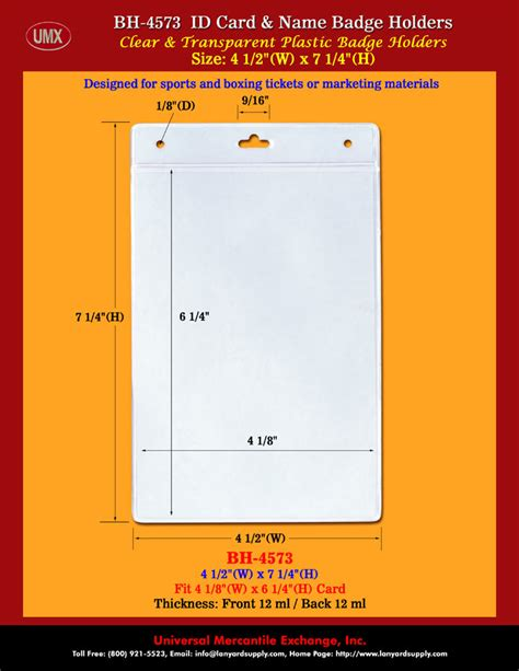 id card design and size full size 4x6 vertical badge holder for 4 quot x6 quot vertical