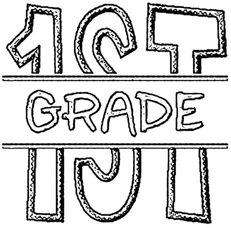 educational coloring pages for first graders 1st grade coloring pages wecoloringpage