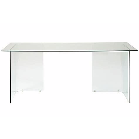 buy lewis staten 140 clear glass top desk with glass