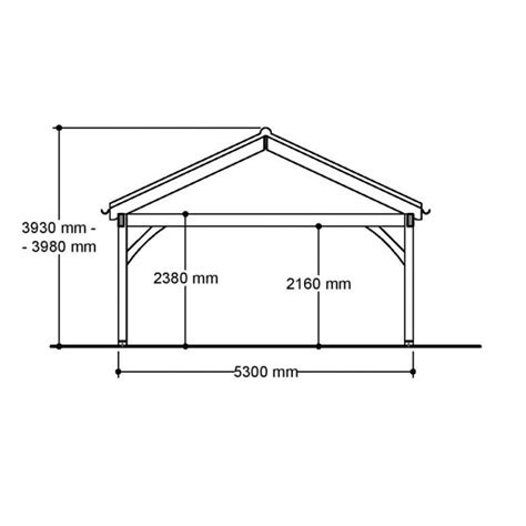 Single Car Carport Size Single Carport Post Beam Green Oak Or Douglas Fir