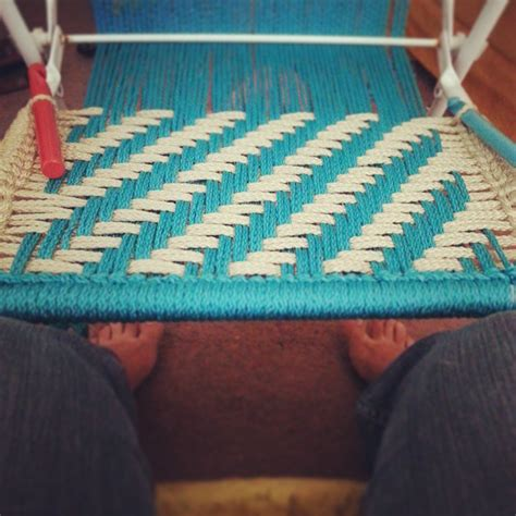 Hemp Weaving Patterns - saving an lawn chair 171 goodknits a knitting