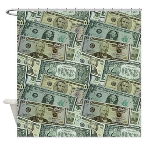 Easy Money Shower Curtain By Patternshoppe