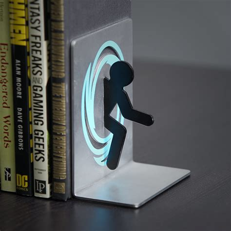 Portal Bookends   ThinkGeek