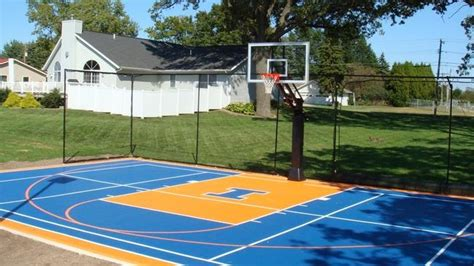 backyard basketball court home ideas