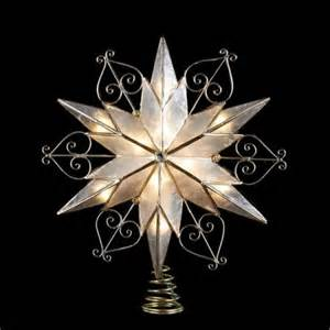 Kurt Adler Lights 10 5 Quot Lighted 6 Point Capiz Shell Star With Scroll Design
