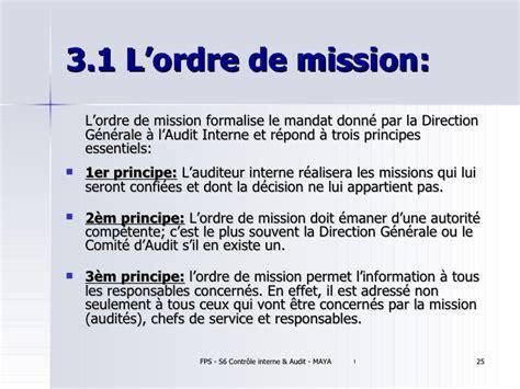 Modele Ordre De Mission