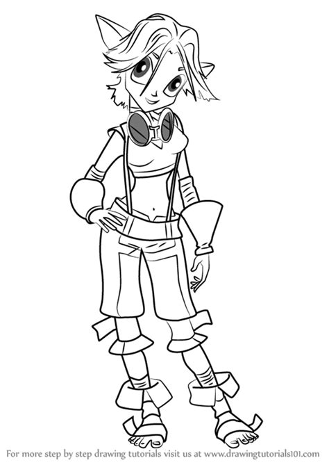 Learn How To Draw Keira From Jak And Daxter Jak And Jak And Daxter Coloring Pages