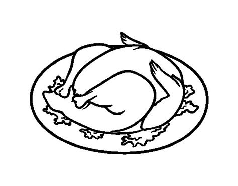 cooked fish coloring page roasted chicken coloring page coloringcrew com