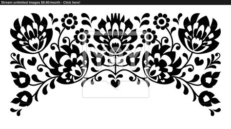 black and white embroidery patterns polish floral folk embroidery black and white pattern