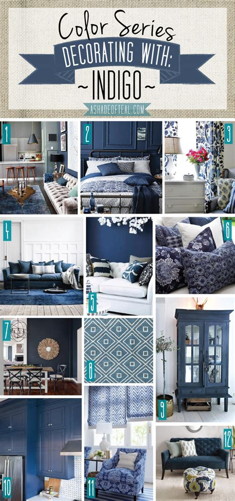 teal blue home decor color series decorating with indigo
