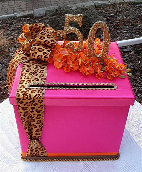 Birthday Card Box Chic Wedding 50th Birthday Party Box Sweet Sixteen Wedding