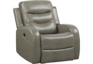 Grey Leather Recliner Corseca Gray Leather Power Recliner Leather Recliners Gray