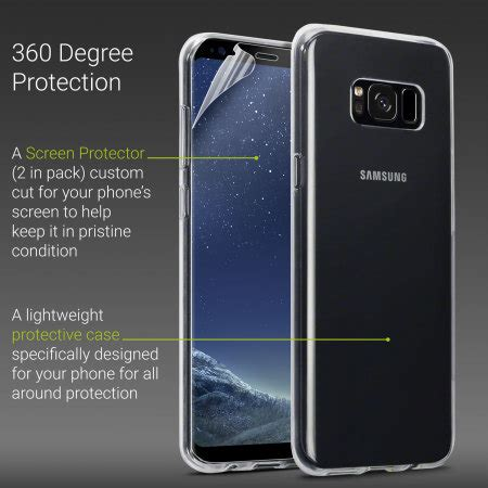 Samsung Galaxy S8 Screen Protector Cover Original olixar total protection samsung galaxy s8 plus screen protector