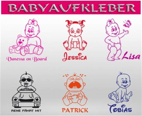 Auto Sticker Name by Babyaufkleber Autoaufkleber Baby On Tour Board Kinder
