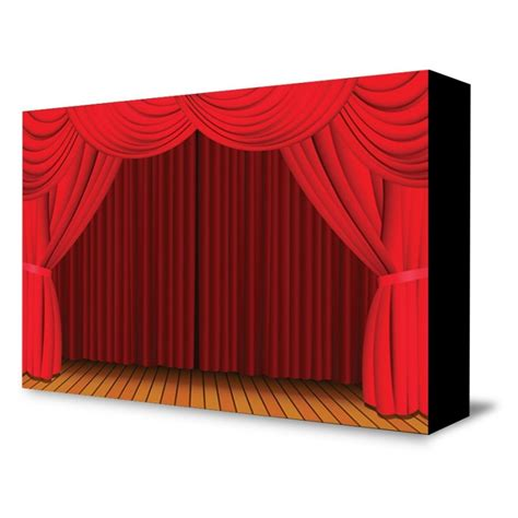 Red Curtain Portable Theater Backdrop Self Contained