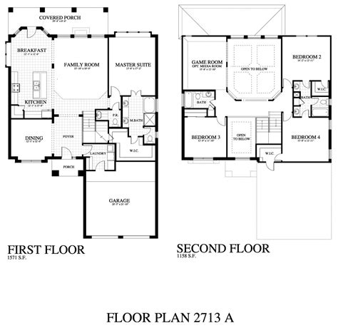 plan 2713a saratoga homes