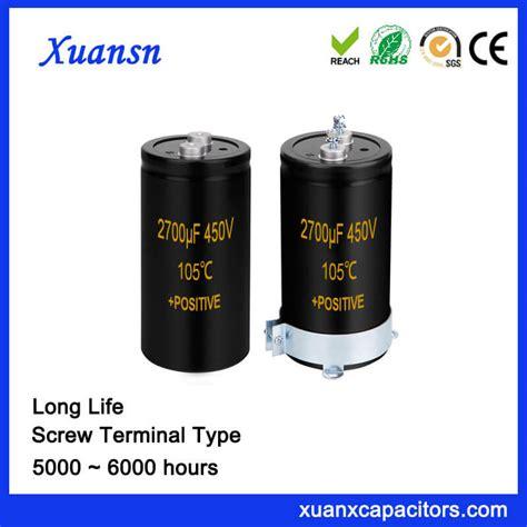 capacitor lifespan hours high voltage 450v 2700uf aluminum capacitor