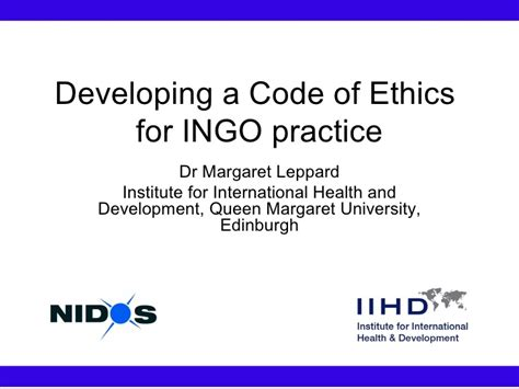 ppt templates for ngo developing a code of ethics for ngo practice presentation