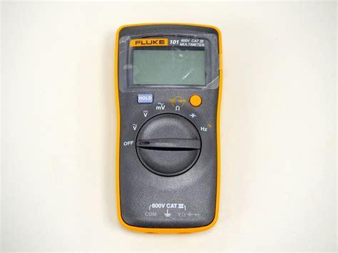 Multimeter Fluke 101 開箱 fluke 101 數位萬用電錶 三用電表 便宜輕巧的基本款 g t wang