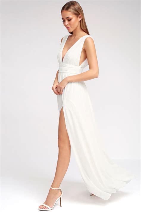 New Maxi Dress White white gown maxi dress sleeveless maxi dress
