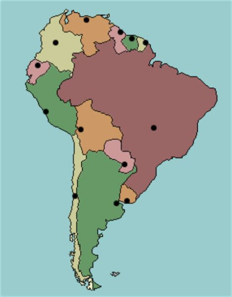 south america map and capitals quiz test your geography knowledge south america capital