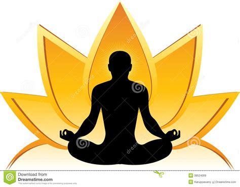 lotus yoga logo royalty free stock images image 38524069