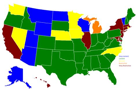 What States Can You Buy A Gun Without Background Check Gun Restrictions By State This Map Shows Which Maps On The Web