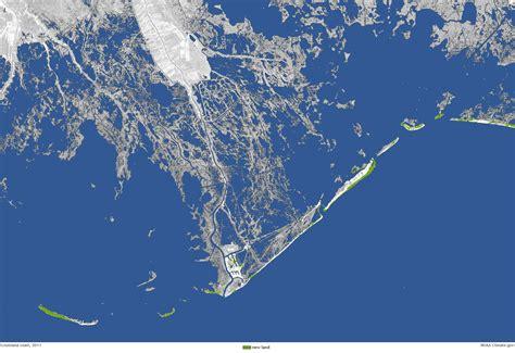 louisiana coast map underwater land loss in coastal louisiana since 1932