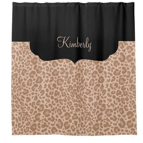leopard pattern name chic shower curtains personalized for women and girls oh