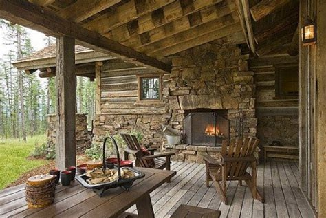 Log Patio by Log Cabin Porch Decorating Ideas Log Home