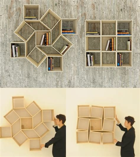 squaring movable bookshelf by sehoon