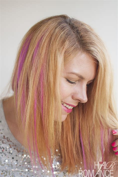 pink hair streaks how to diy pink highlights in your hair hair romance