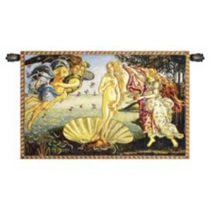 Nascita di venere by sandro botticelli italian wall hanging b h 26 x