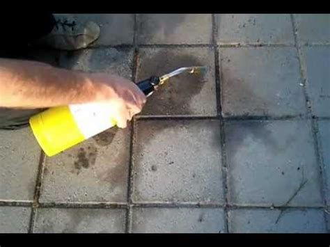 removing oil from brick pavers youtube