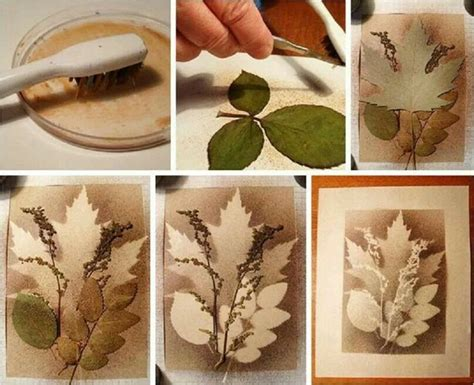 arts and crafts projects for adults splatter with layered leaves tree projects for