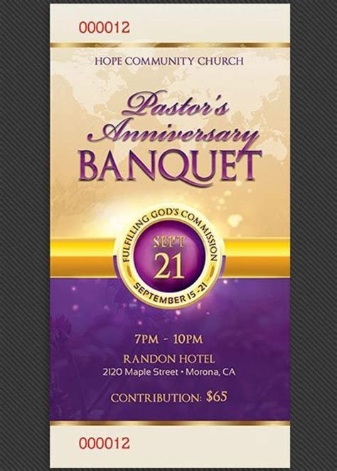 printable banquet tickets clergy anniversary banquet ticket template ticket