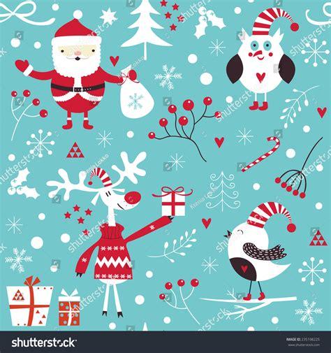 merry christmas pattern vector stylish merry christmas seamless pattern santa stock