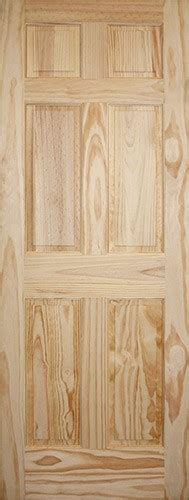 8 Panel Interior Wood Doors by Discount 6 8 Quot 6 Panel Pine Interior Wood Door Slab