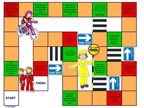 printable road safety games rainbow snake ladders road safety email blagdonrainbows