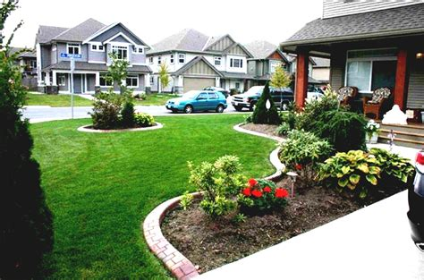 affordable simple front yard landscaping ideas townhouse