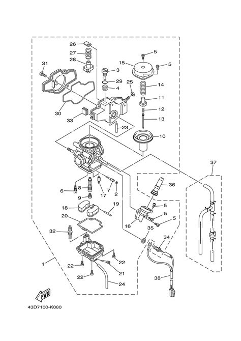 raptor 660 parts diagram 2003 yamaha raptor 660 carb diagram wiring diagrams
