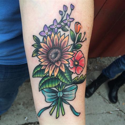 traditional sunflower tattoo 80 bright sunflower tattoos designs meanings for