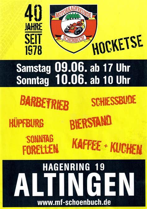 Motorradtreffen Altingen by Veranstaltungen Termine 187 Motorradfreunde Sch 246 Nbuch