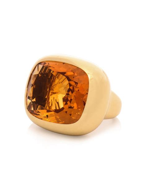 Yelow Citrin lyst mcdonough citrine yellow gold ring in yellow