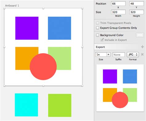 sketch export pattern understanding sketch s export options