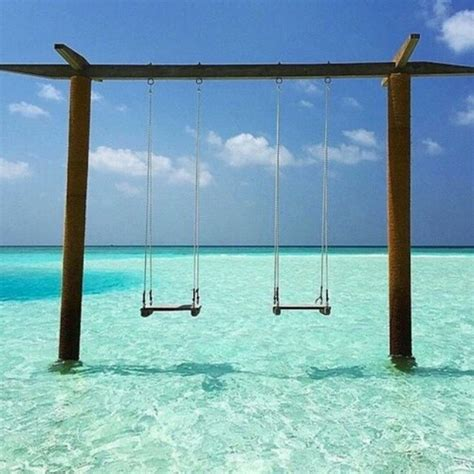 beach swing swing beautiful beach on instagram