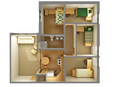 Ally Floor Plan by Mathew Living Learning Centers Residence Life Ndsu